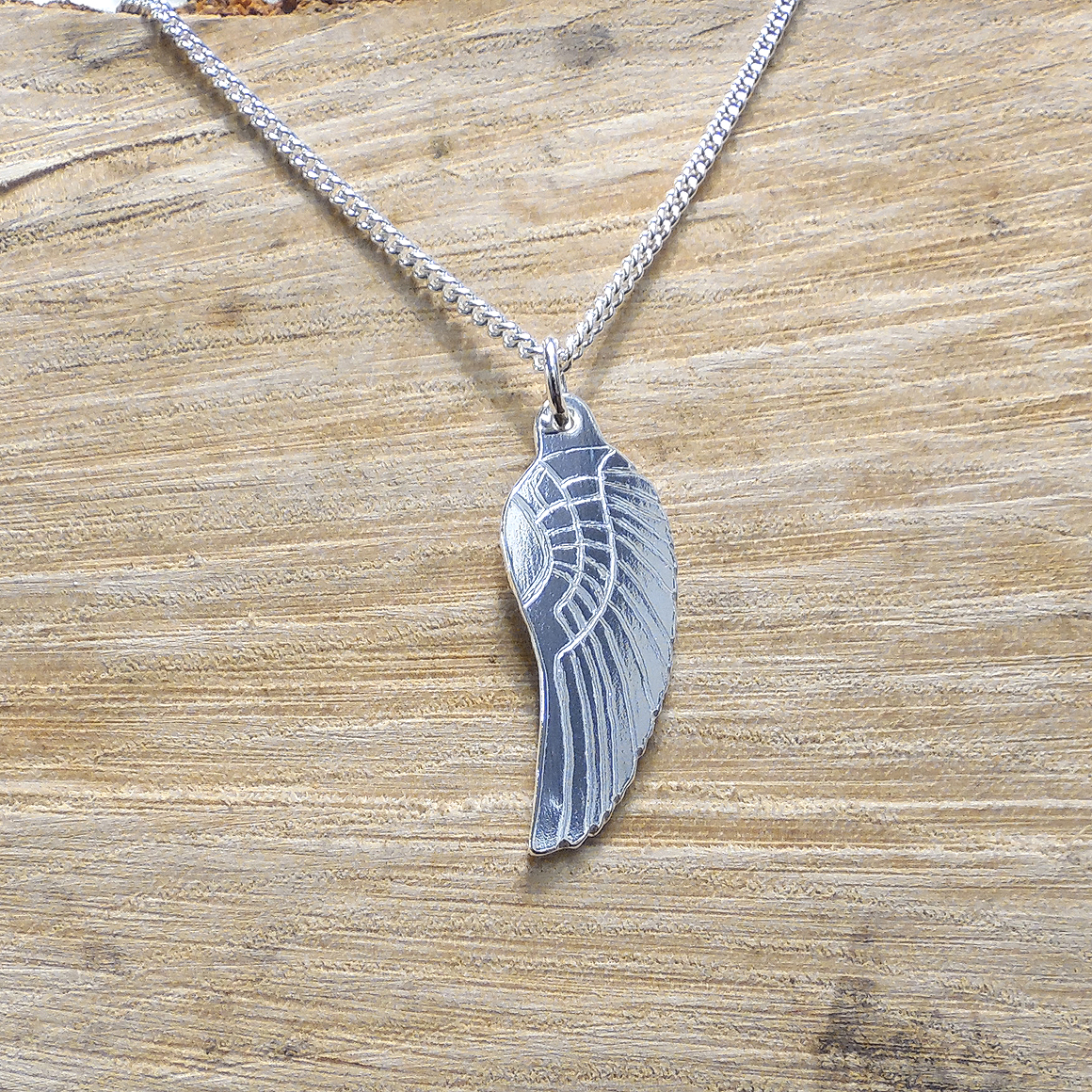 angel silver pendant wings wing pin sterling