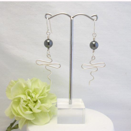 beaded-squiggle earrings