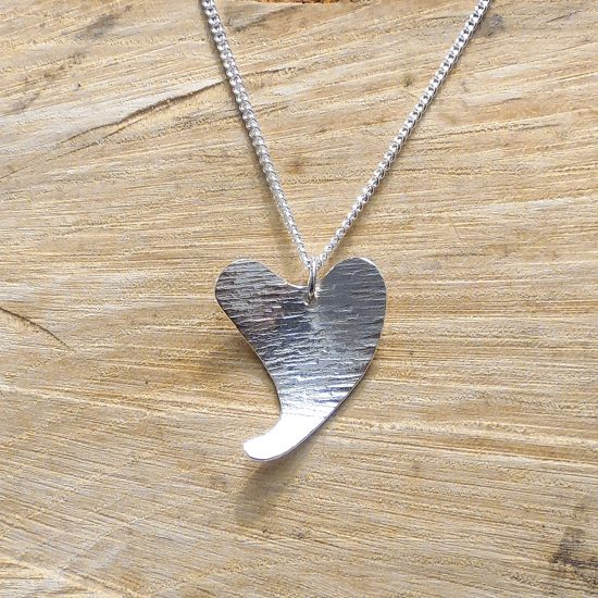 Off Set Heart Pendant