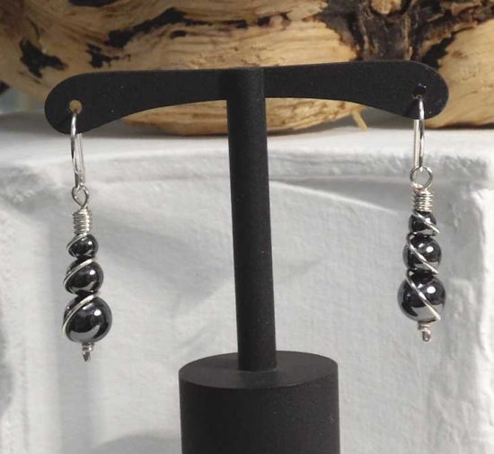 Haematite Spring Earrings