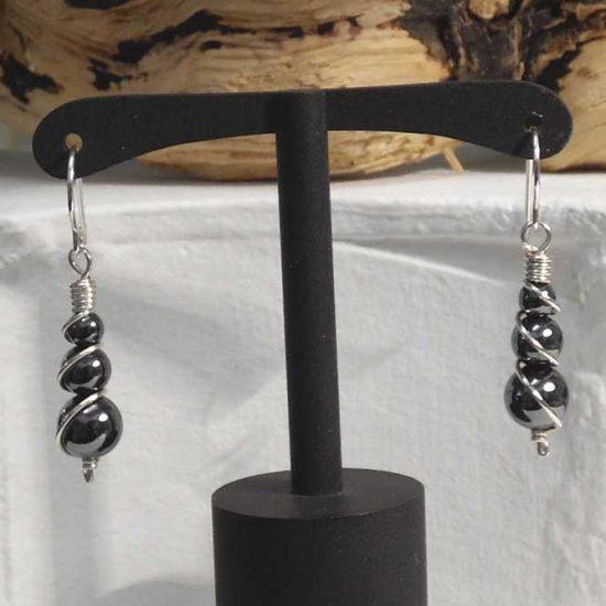 Hematite Spring Earrings
