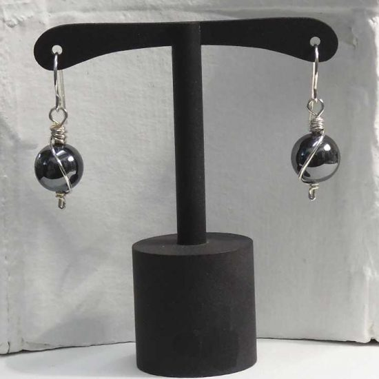 Haematite Wrap Earrings