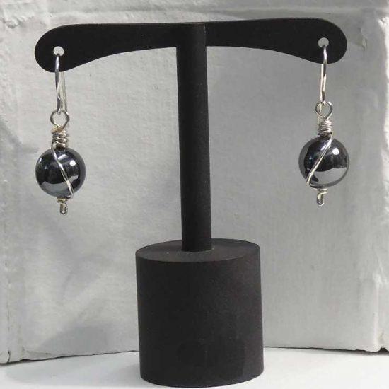 Hematite Wrap Earrings