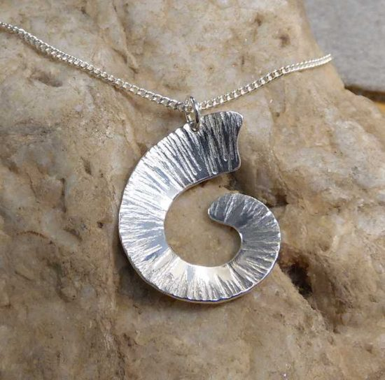 Large Ammonite Shell Pendant