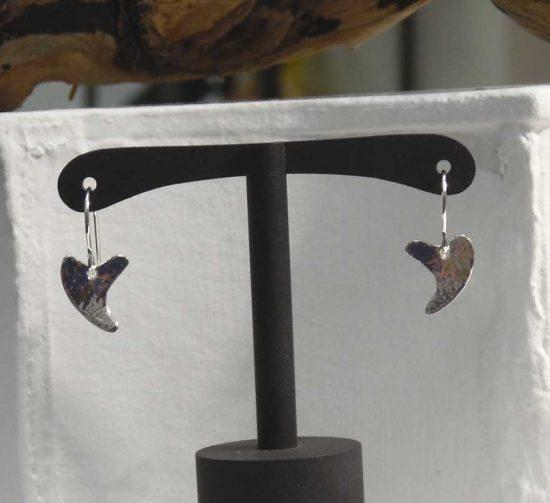Off Set Heart Earrings