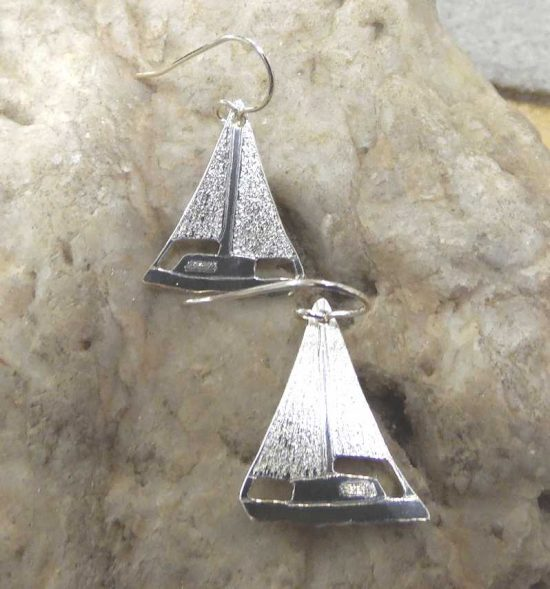 Silver Yacht Earrings